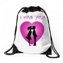 I love you Drawstring Bags | Artistshot