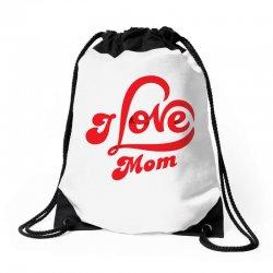 I love mom Drawstring Bags | Artistshot
