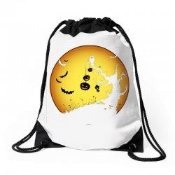 Night Halloween Drawstring Bags | Artistshot
