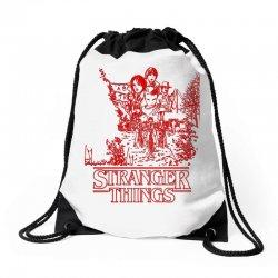 stranger things red Drawstring Bags | Artistshot