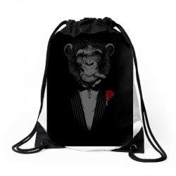 Monkey Busniseman Drawstring Bags | Artistshot