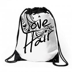 love is in the hair Drawstring Bags   Artistshot