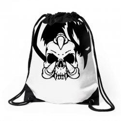 music skull Drawstring Bags | Artistshot