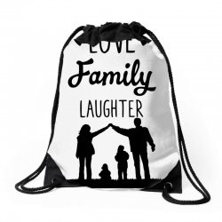 love family laughter Drawstring Bags | Artistshot