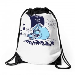 musical ship Drawstring Bags | Artistshot
