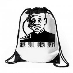 geek borg Drawstring Bags | Artistshot