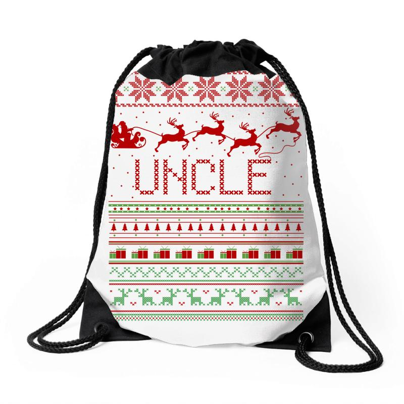 7def821001369 Custom Uncle Ugly Christmas Sweater Drawstring Bags By Rardesign ...