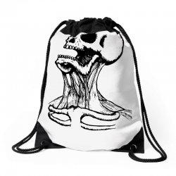 screaming skull Drawstring Bags | Artistshot