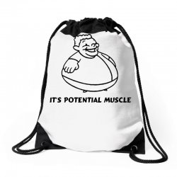 it's not fat, it's potential muscle Drawstring Bags | Artistshot