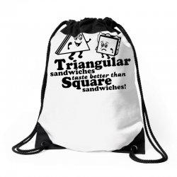 triangular sandwiches Drawstring Bags   Artistshot