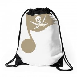 music pirate Drawstring Bags | Artistshot