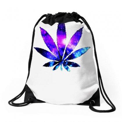 b4457c1ac Galaxy Weed Leaf Drawstring Bags Designed By Mardins