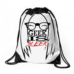 Geek is Sleek Drawstring Bags | Artistshot