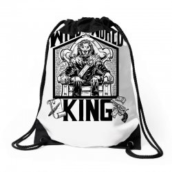 Wild World King Drawstring Bags | Artistshot