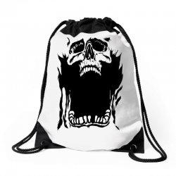 Screaming skull Drawstring Bags   Artistshot