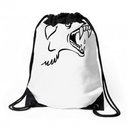 Screaming Mad Dog Drawstring Bags | Artistshot