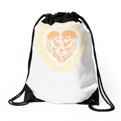Sacred Heart Skull Lovers Drawstring Bags Designed By Specstore