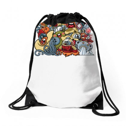 Animal Space Heroes Drawstring Bags Designed By Specstore