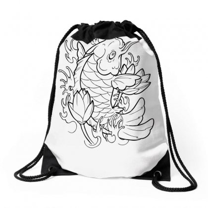 Goldfish Of Heaven Drawstring Bags Designed By Specstore