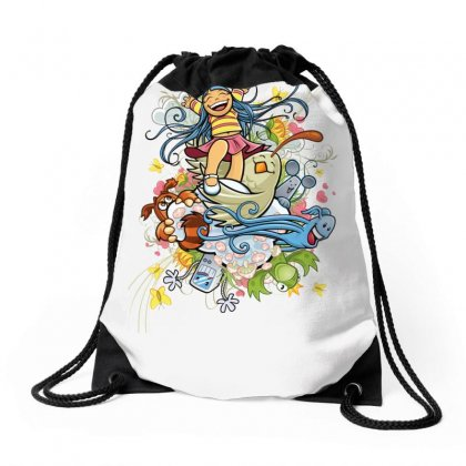 Happy Day Adventure Drawstring Bags Designed By Specstore