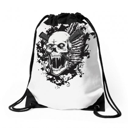 Sealed Vampire Skull Drawstring Bags Designed By Specstore