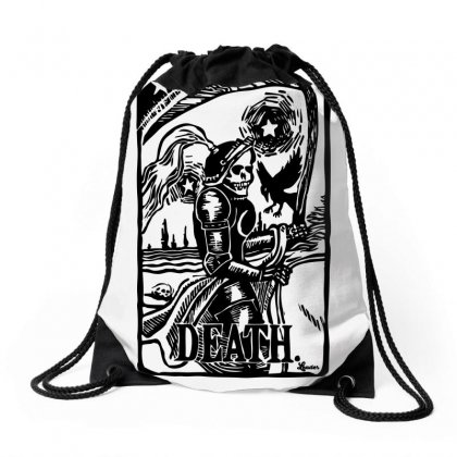 Tarot Death Card Drawstring Bags Designed By Specstore