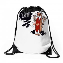 Angry Boss Screaming Deadline Drawstring Bags | Artistshot