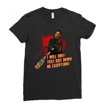 Negan Ladies Fitted T-shirt Designed By Vr46
