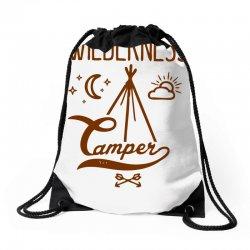 wilderness camper Drawstring Bags | Artistshot