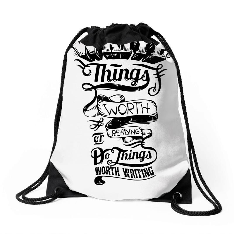 Custom Write Things Drawstring Bags By Ditreamx - Artistshot f5a1e90d9d437