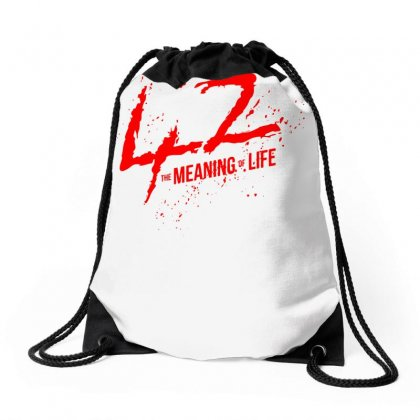 42 The Meaning Life Drawstring Bags Designed By Specstore