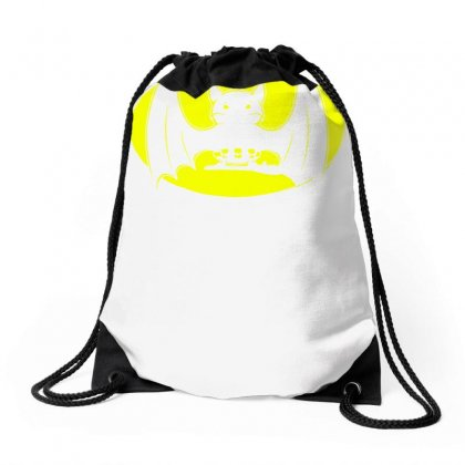 Bat Moon Drawstring Bags Designed By Specstore