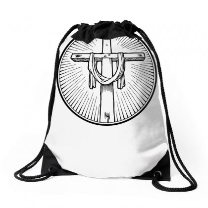 Easter Sunday Cross Drawstring Bags Designed By Specstore