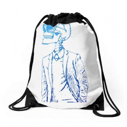 Gentleman Skull Drawstring Bags Designed By Specstore
