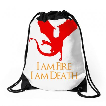 I Am Fire I Am Death Drawstring Bags Designed By Specstore
