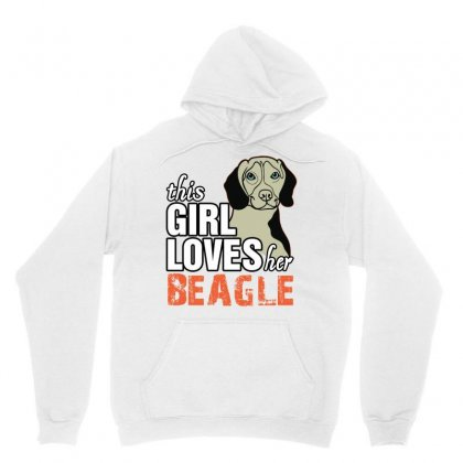 This Girl Loves Her Beagle Unisex Hoodie Designed By Killakam