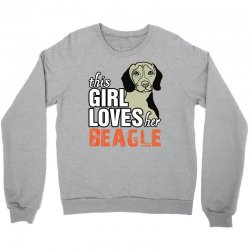 this girl loves her beagle Crewneck Sweatshirt | Artistshot