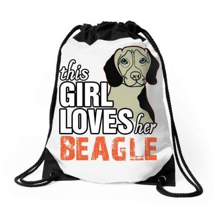 This Girl Loves Her Beagle Drawstring Bags Designed By Killakam