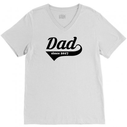 Dad V-neck Tee Designed By Sbm052017
