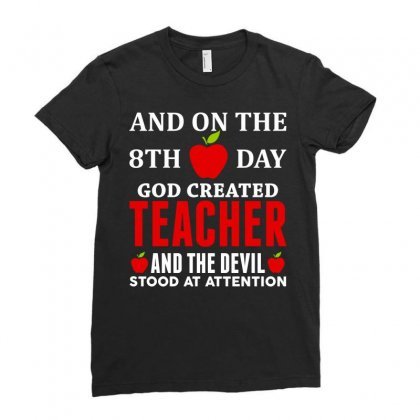 Proud Teacher Ladies Fitted T-shirt Designed By Tshiart