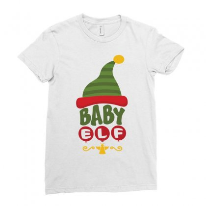 Baby Elf Ladies Fitted T-shirt Designed By Tshiart