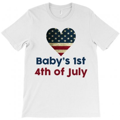 Baby's 1st 4th Of July T-shirt Designed By Tshiart