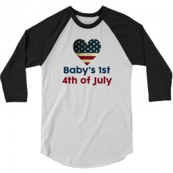 Baby's 1st 4th of July 3/4 Sleeve Shirt | Artistshot