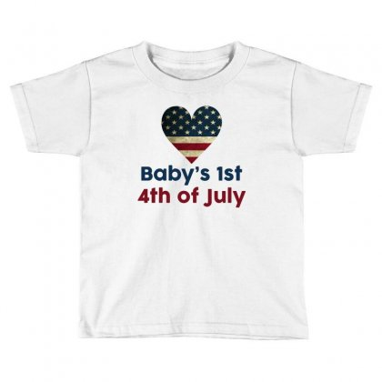 Baby's 1st 4th Of July Toddler T-shirt Designed By Tshiart