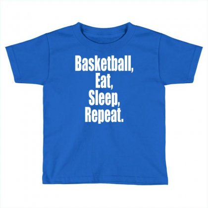 Basketball Eat Sleep Repeat Toddler T-shirt Designed By Tshiart