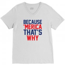 Because 'Merica That's why V-Neck Tee   Artistshot
