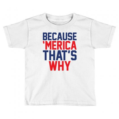Because 'merica That's Why Toddler T-shirt Designed By Tshiart