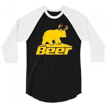 Beer 3/4 Sleeve Shirt Designed By Tshiart