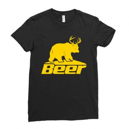 Beer Ladies Fitted T-shirt Designed By Tshiart