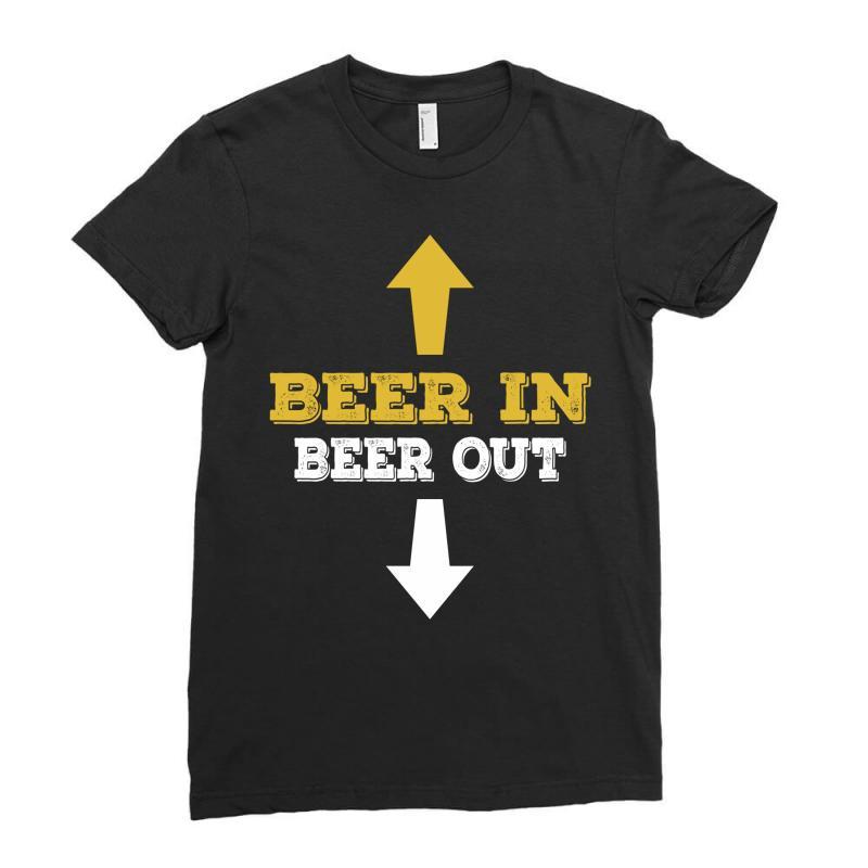 Beer In Beer Out Ladies Fitted T-shirt   Artistshot